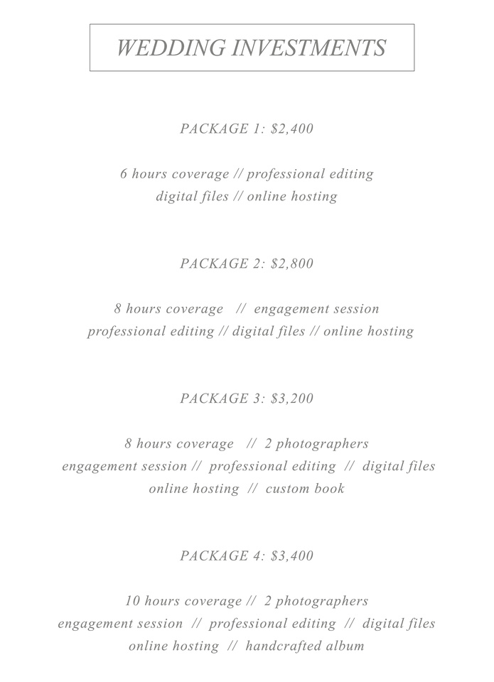 Wedding Photography Pricing2018 Final